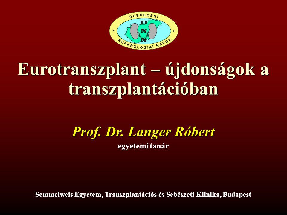 Eurotranszplant – újdonságok a transzplantációban