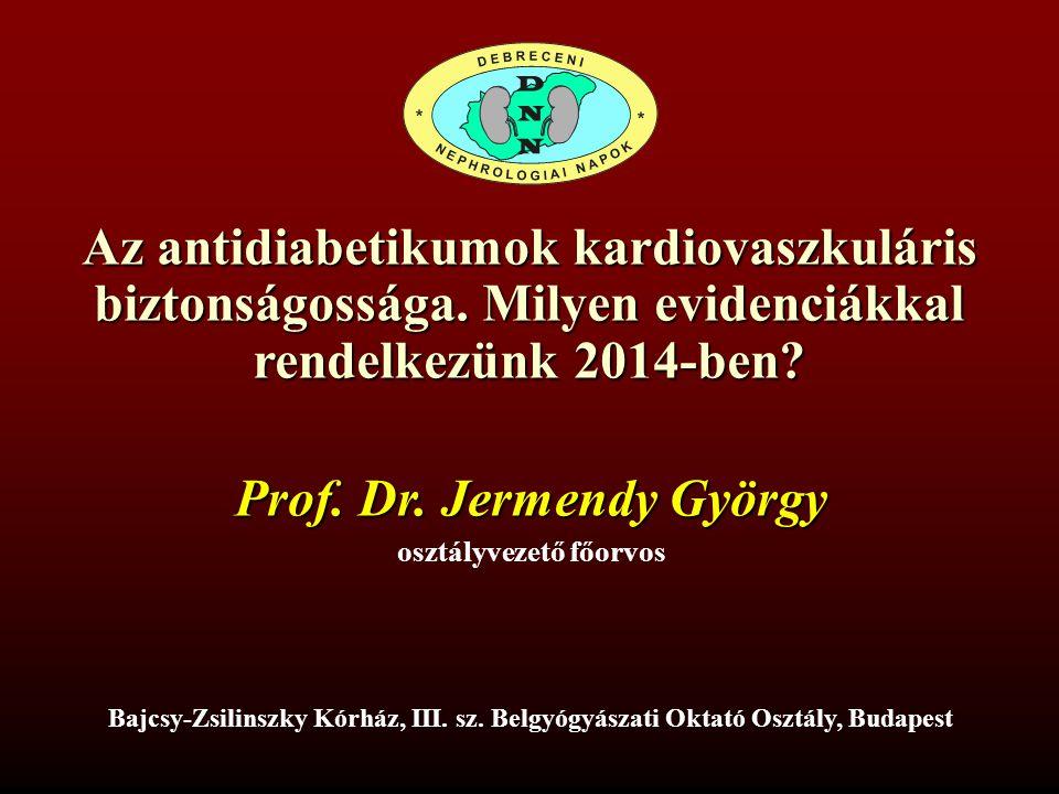 Prof. Dr. Jermendy György osztályvezető főorvos