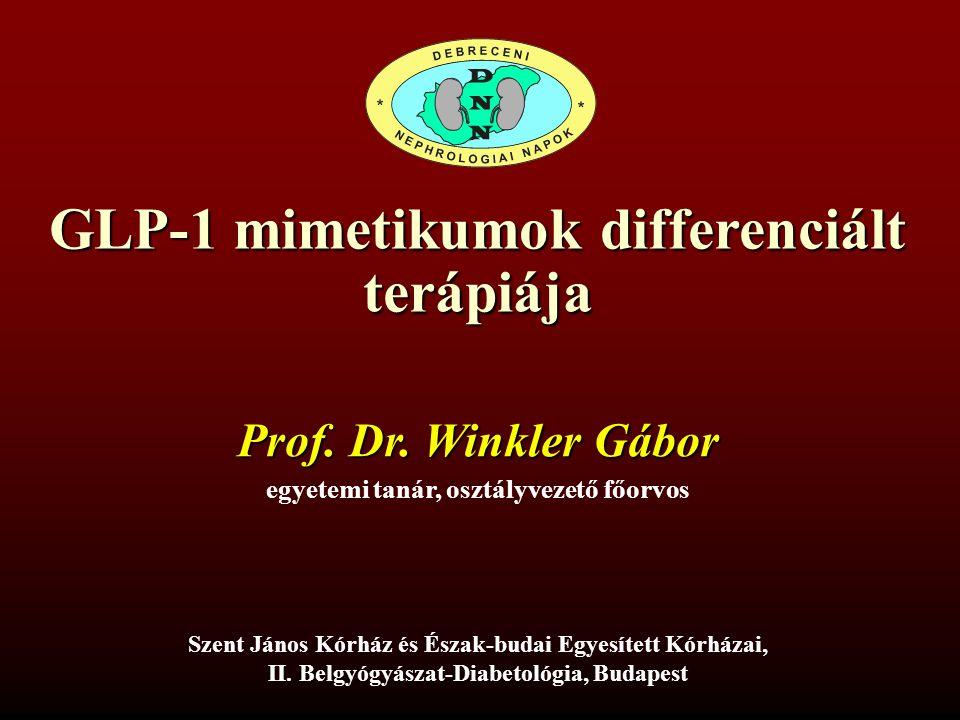 GLP-1 mimetikumok differenciált terápiája
