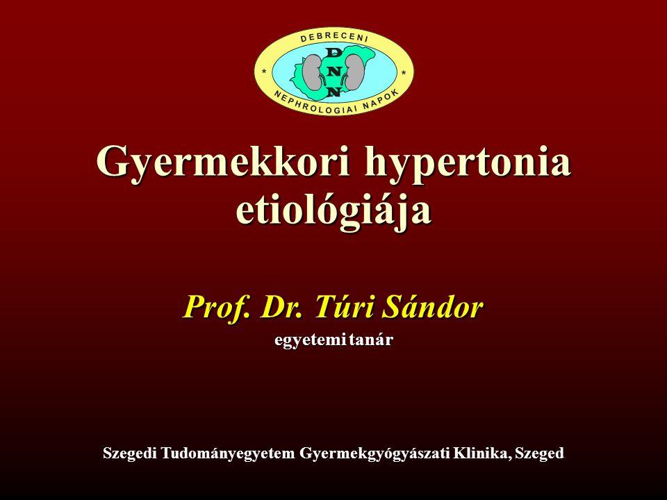Gyermekkori hypertonia etiológiája