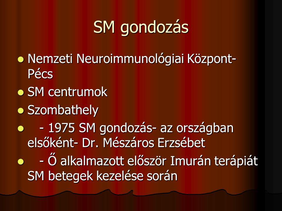SM gondozás Nemzeti Neuroimmunológiai Központ- Pécs SM centrumok
