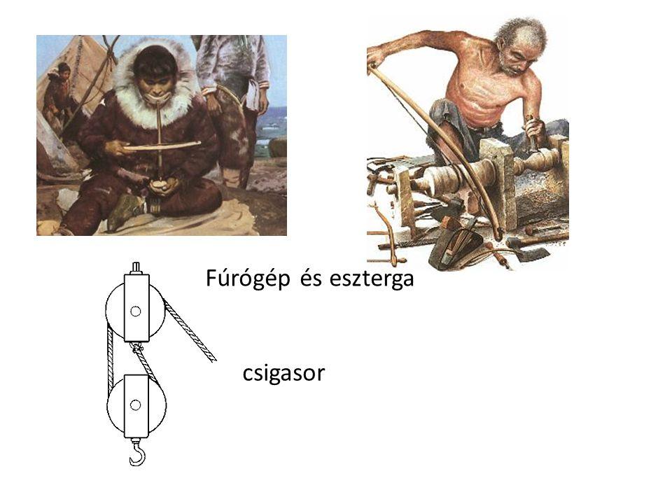 Fúrógép és eszterga csigasor