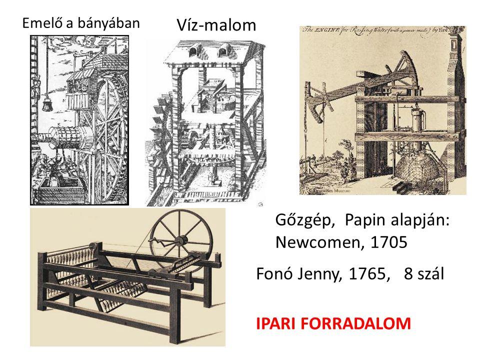 Gőzgép, Papin alapján: Newcomen, 1705
