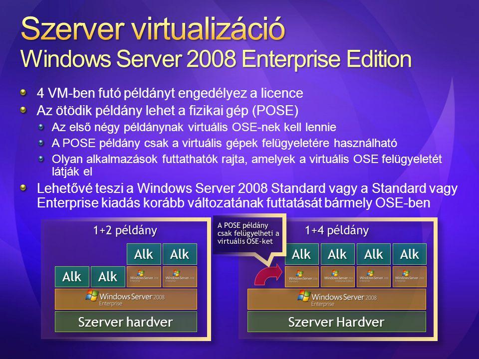 Szerver virtualizáció Windows Server 2008 Enterprise Edition