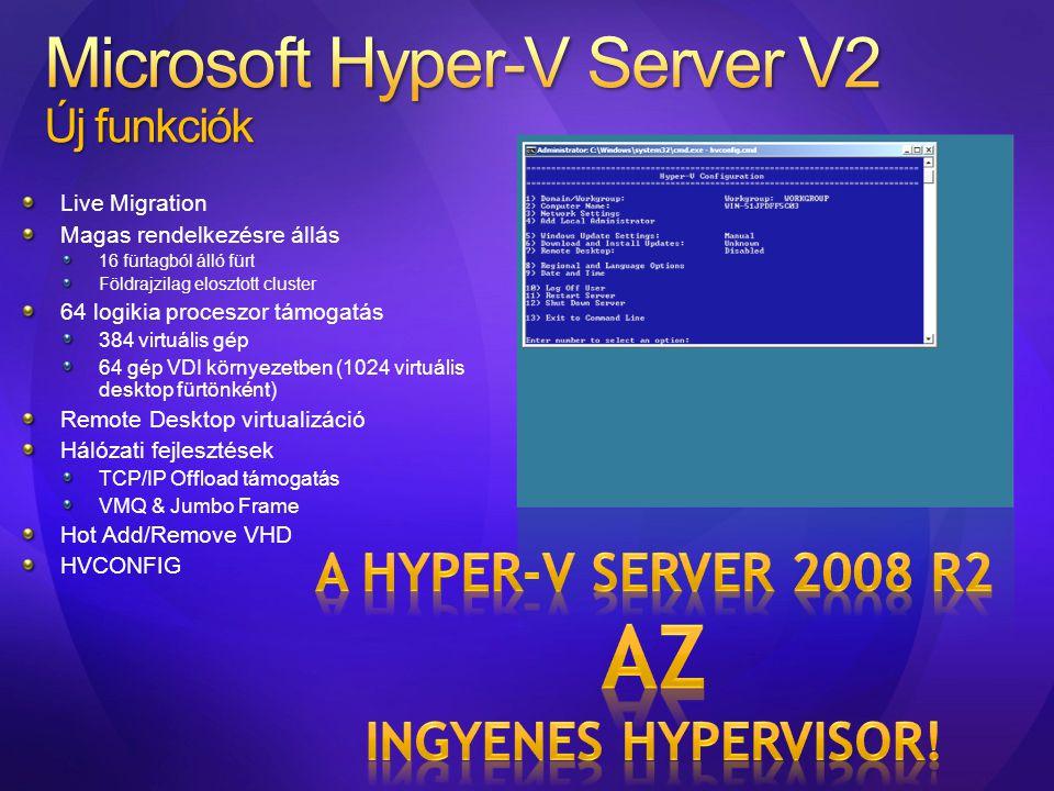 Microsoft Hyper-V Server V2 Új funkciók