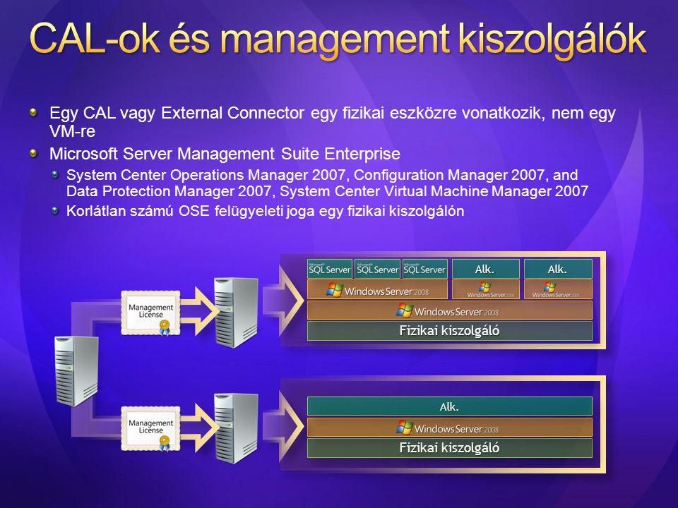 CAL-ok és management kiszolgálók