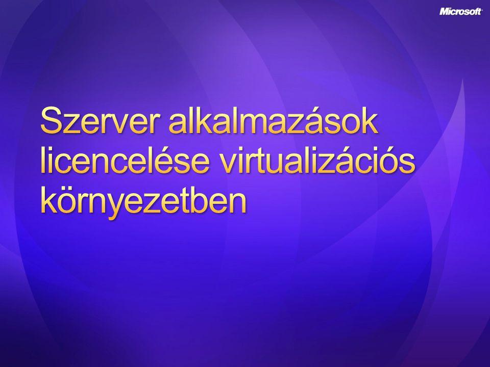 Szerver alkalmazások licencelése virtualizációs környezetben