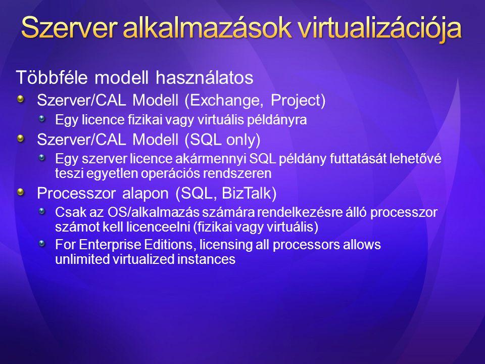 Szerver alkalmazások virtualizációja