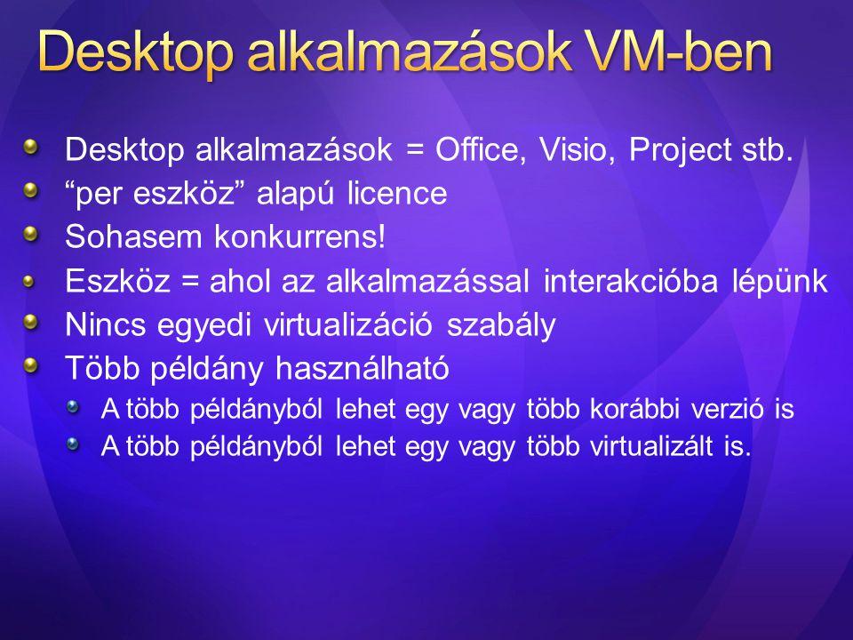 Desktop alkalmazások VM-ben