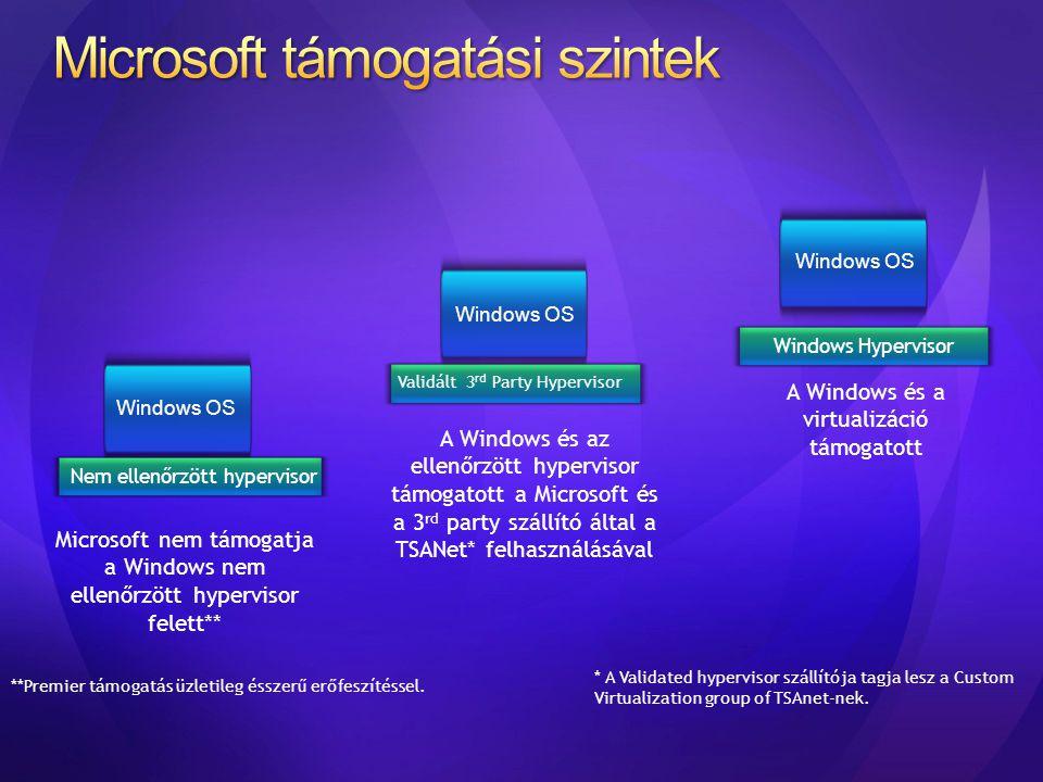 Microsoft támogatási szintek