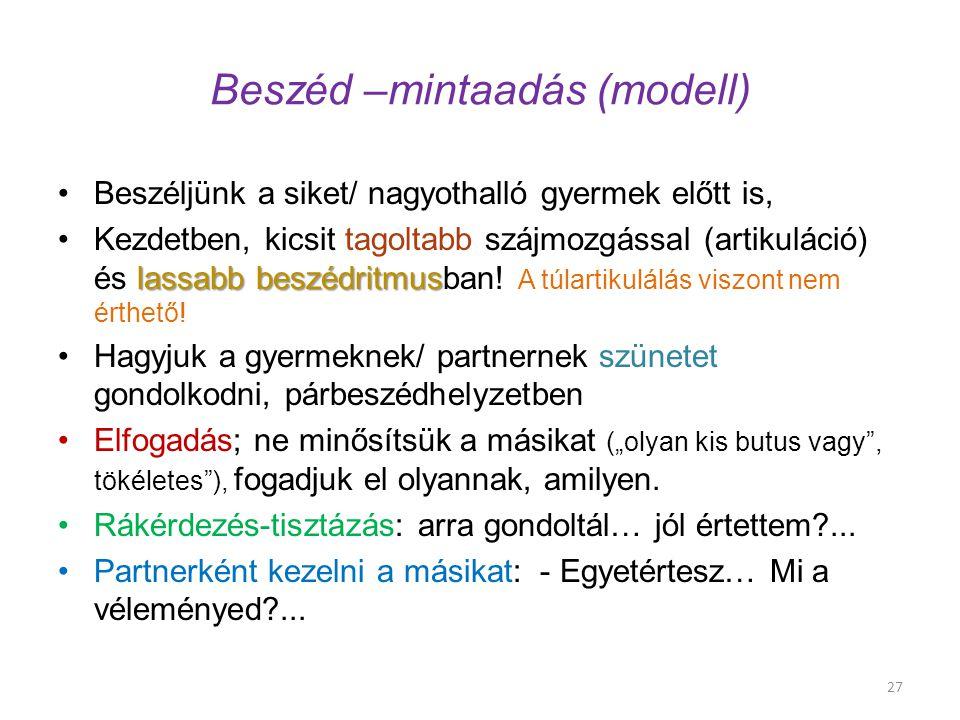 Beszéd –mintaadás (modell)