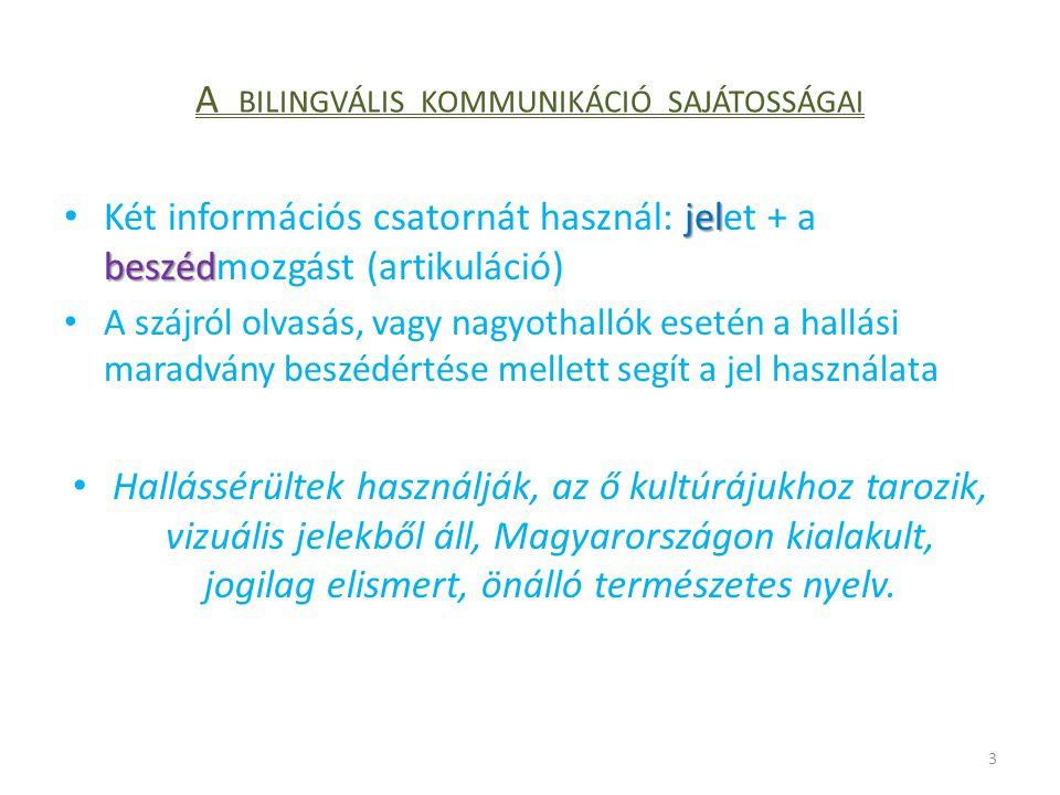 A bilingvális kommunikáció sajátosságai