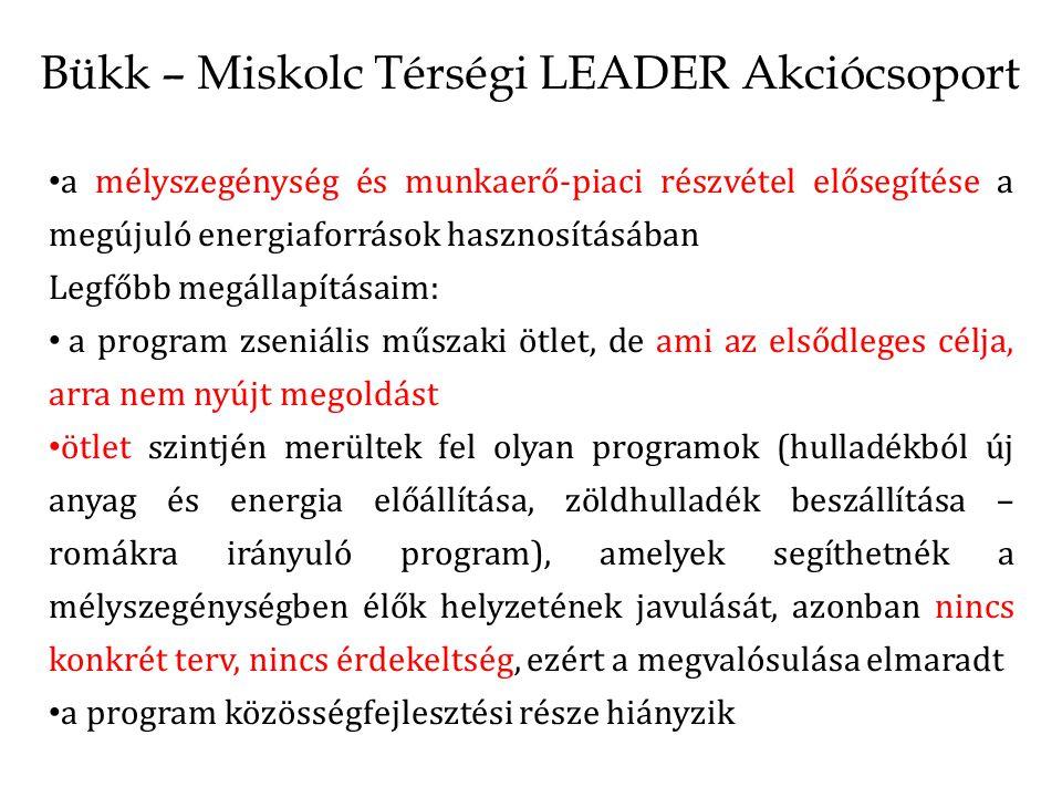 Bükk – Miskolc Térségi LEADER Akciócsoport