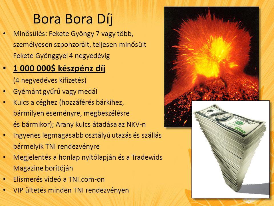 Bora Bora Díj 1 000 000$ készpénz díj