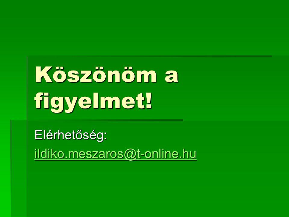 Elérhetőség: ildiko.meszaros@t-online.hu
