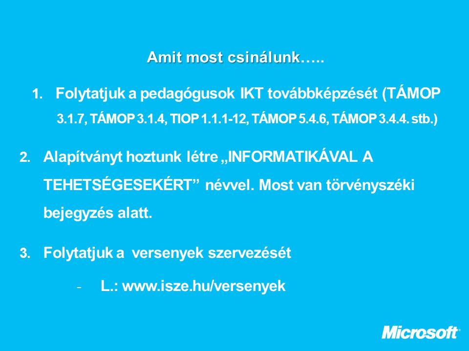 L.: www.isze.hu/versenyek