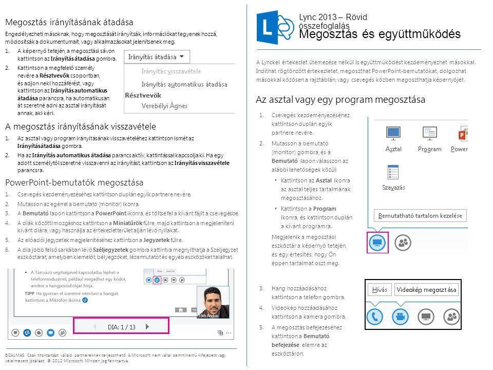 Lync 2013 – Rövid összefoglalás