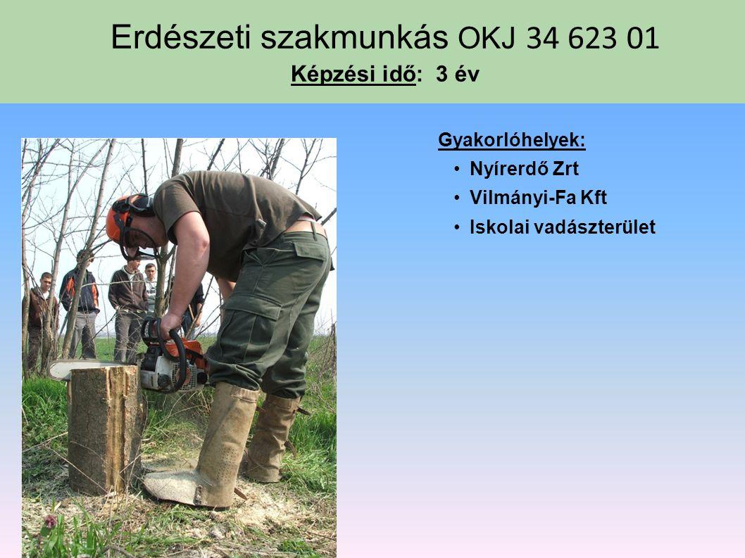 Erdészeti szakmunkás OKJ 34 623 01 Képzési idő: 3 év