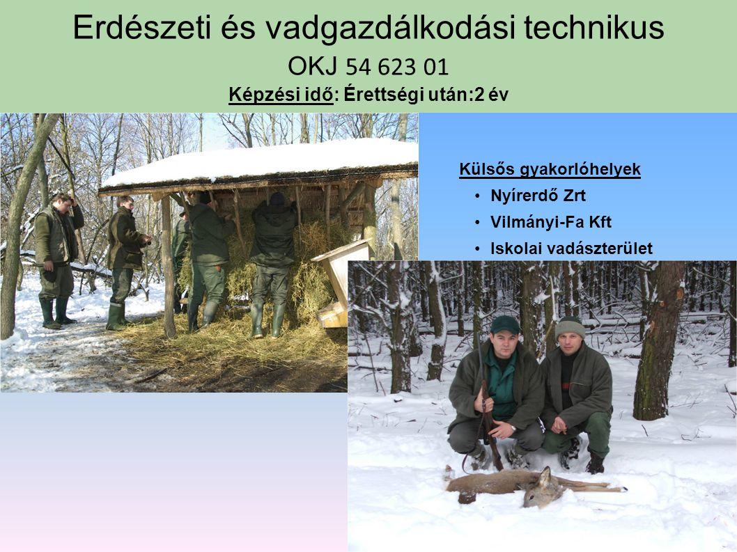 Erdészeti és vadgazdálkodási technikus OKJ 54 623 01 Képzési idő: Érettségi után:2 év