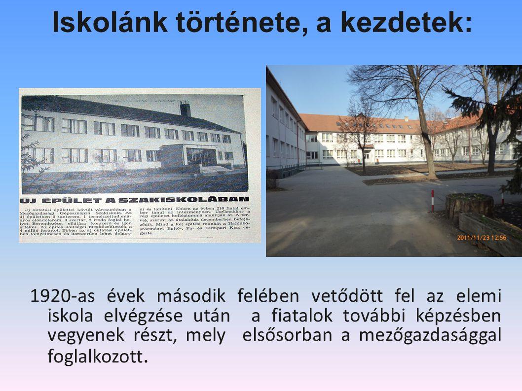 Iskolánk története, a kezdetek: