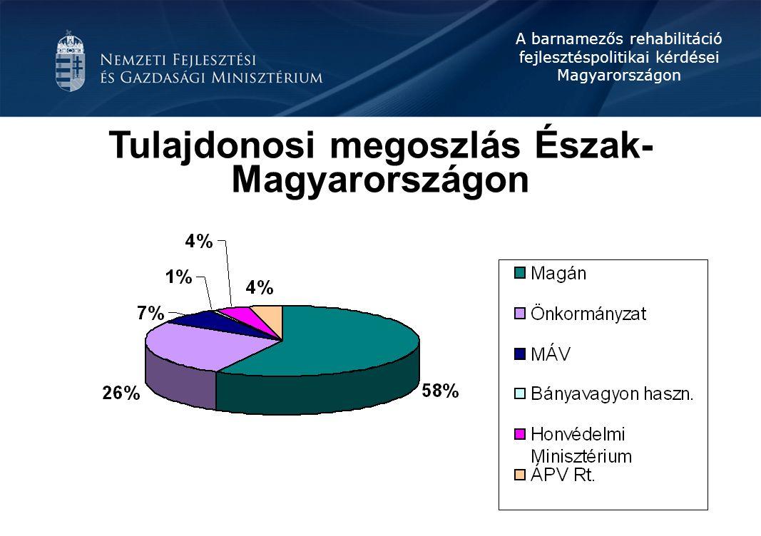 Tulajdonosi megoszlás Észak-Magyarországon
