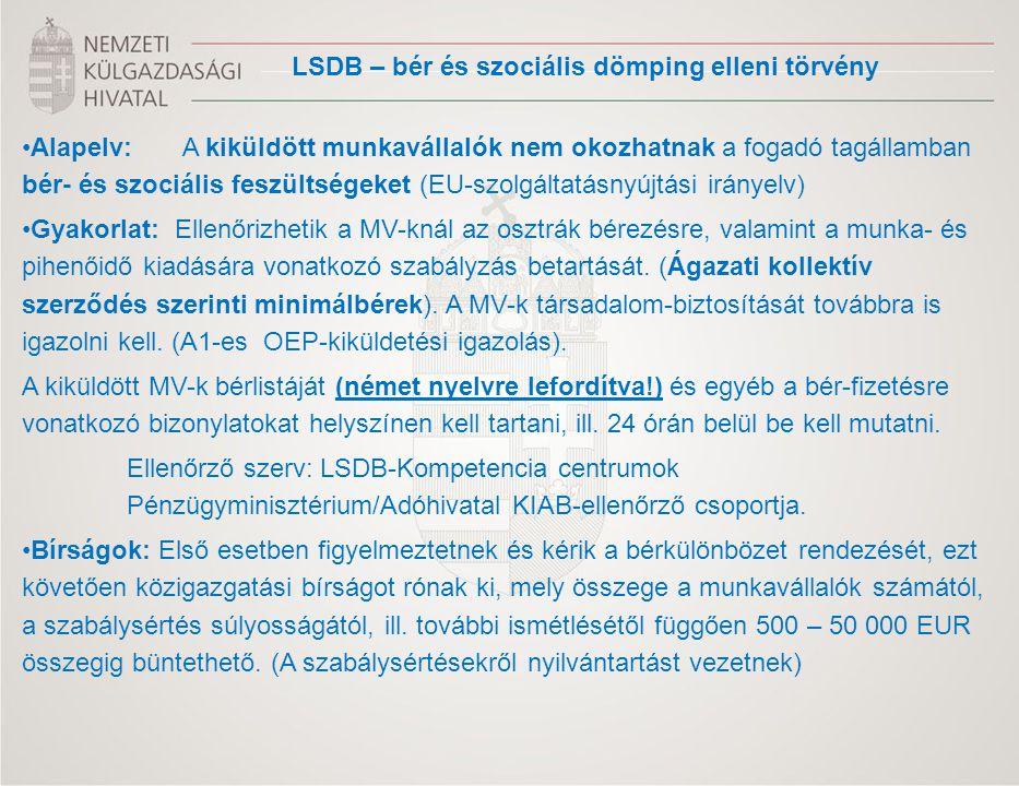 LSDB – bér és szociális dömping elleni törvény