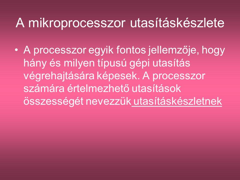 A mikroprocesszor utasításkészlete