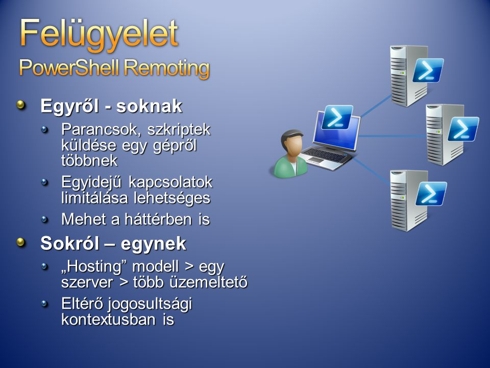 Felügyelet PowerShell Remoting