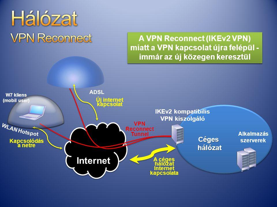 a WLAN hálót és átkerül egy A céges hálózat Internet kapcsolata