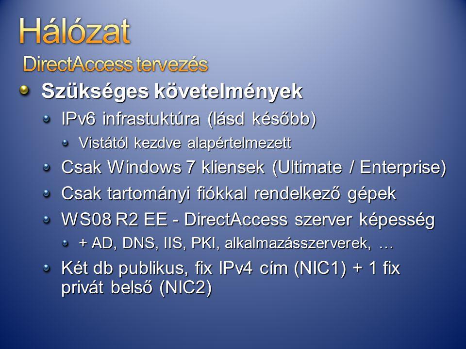 Hálózat DirectAccess tervezés