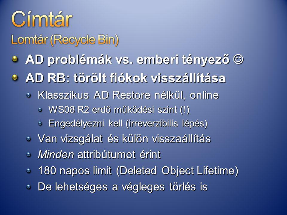 Címtár Lomtár (Recycle Bin)