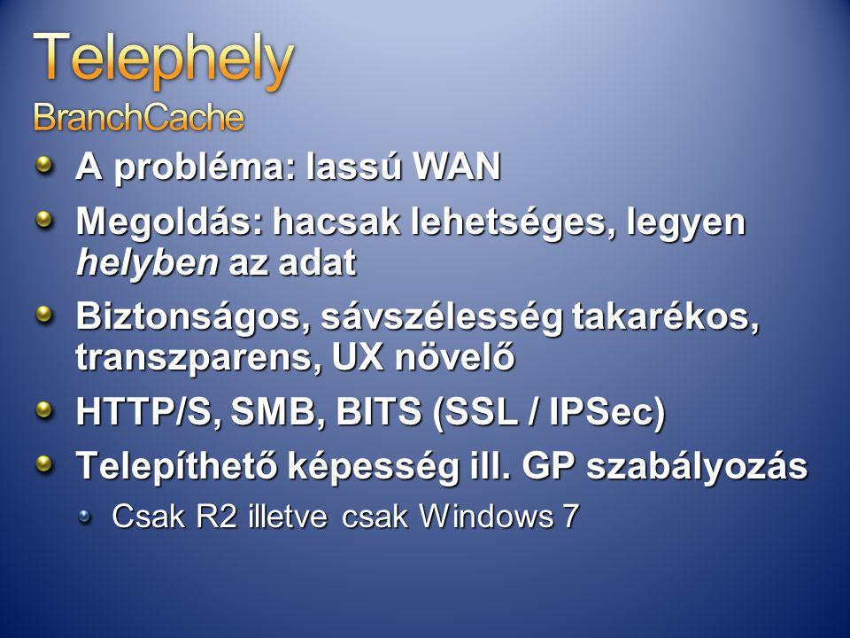 Telephely BranchCache
