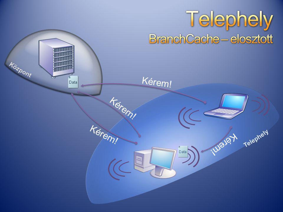 Telephely BranchCache – elosztott