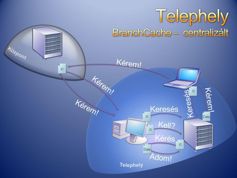Telephely BranchCache – centralizált