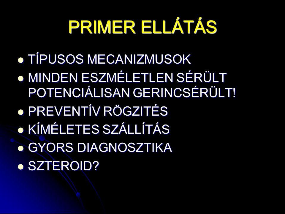 PRIMER ELLÁTÁS TÍPUSOS MECANIZMUSOK