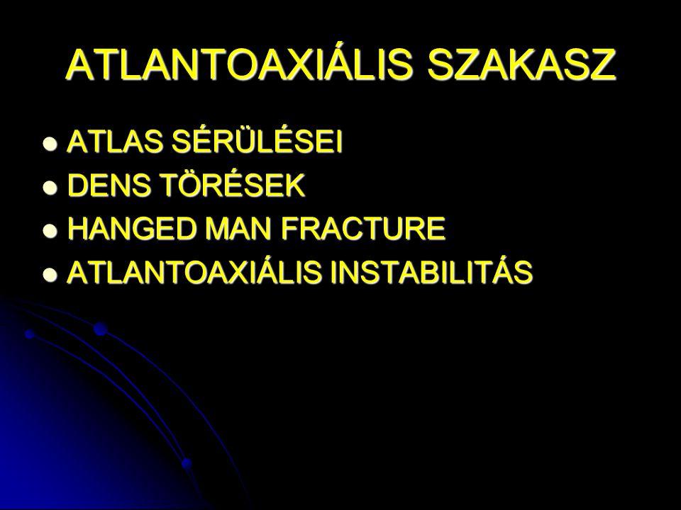 ATLANTOAXIÁLIS SZAKASZ
