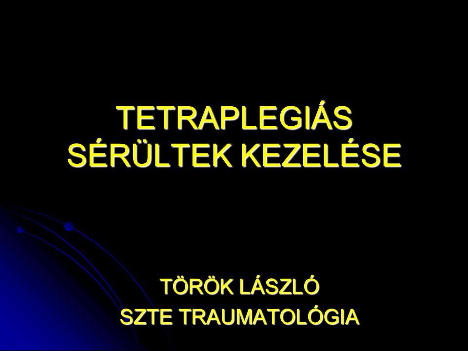 TETRAPLEGIÁS SÉRÜLTEK KEZELÉSE