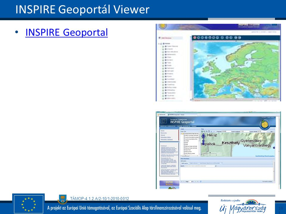 INSPIRE Geoportál Viewer