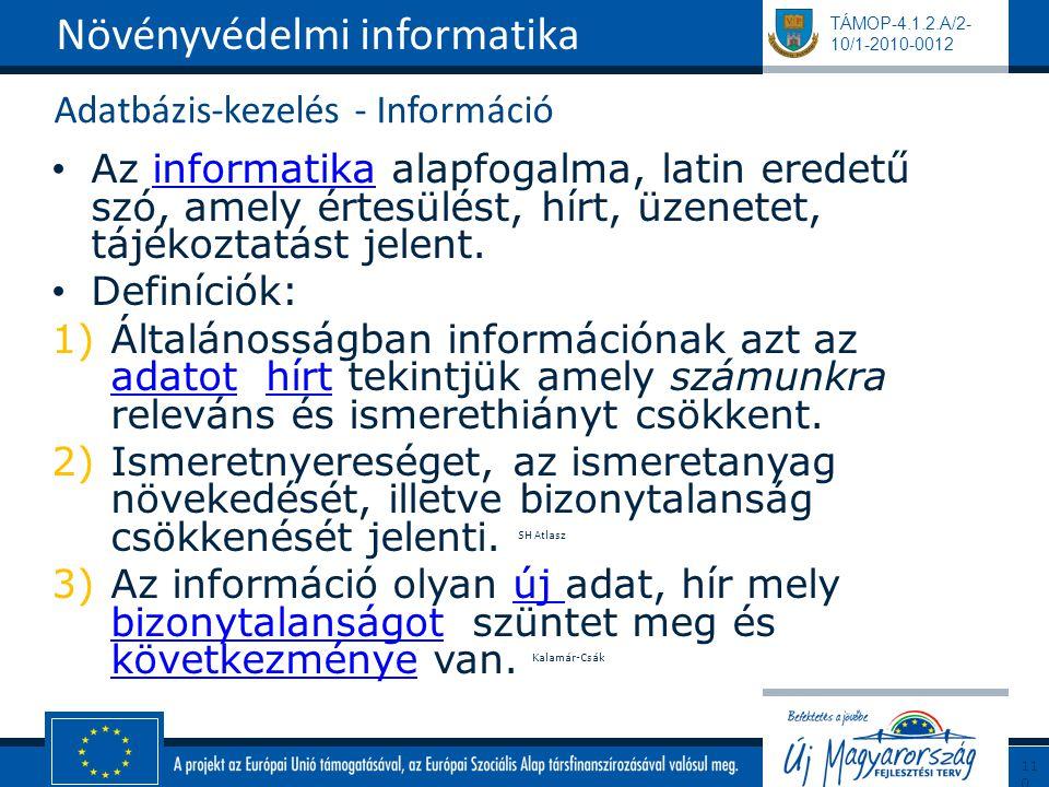 Adatbázis-kezelés - Információ