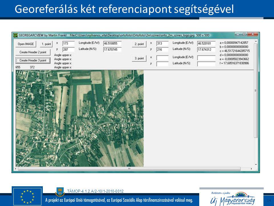 Georeferálás két referenciapont segítségével