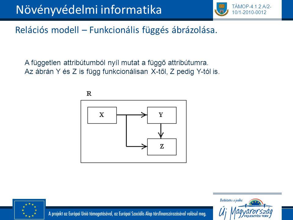 Relációs modell – Funkcionális függés ábrázolása.