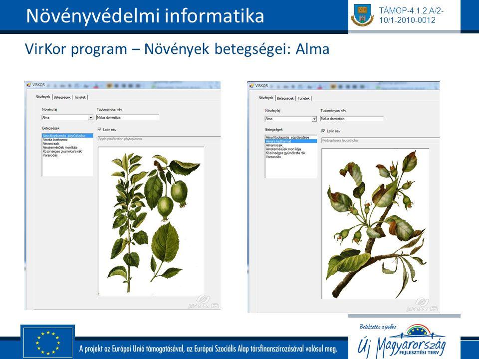 VirKor program – Növények betegségei: Alma