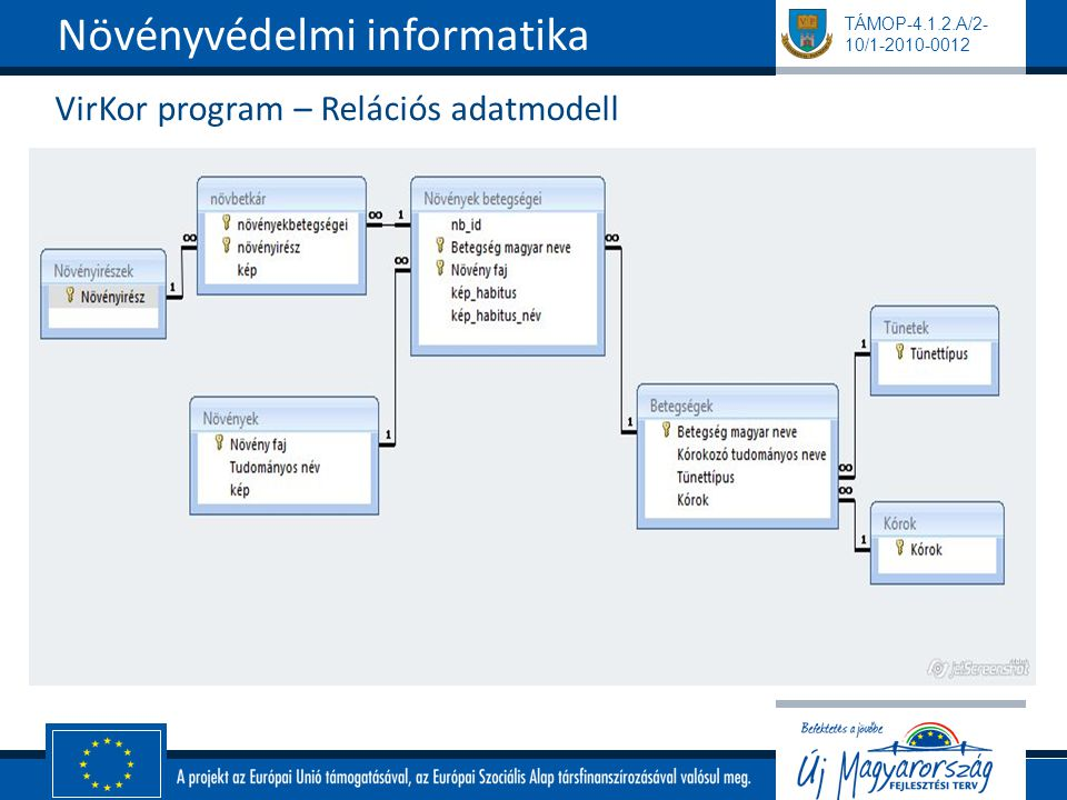 VirKor program – Relációs adatmodell