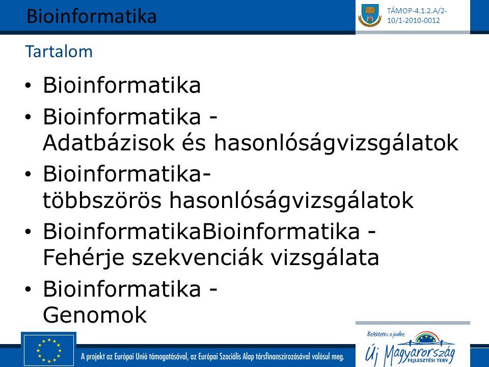 Bioinformatika - Adatbázisok és hasonlóságvizsgálatok