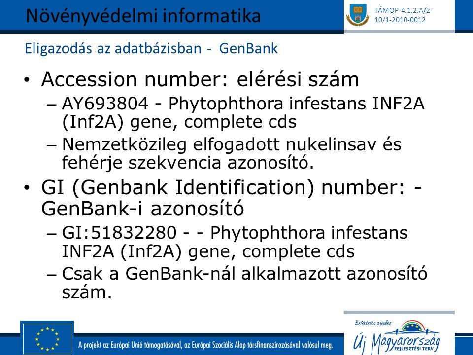 Eligazodás az adatbázisban - GenBank