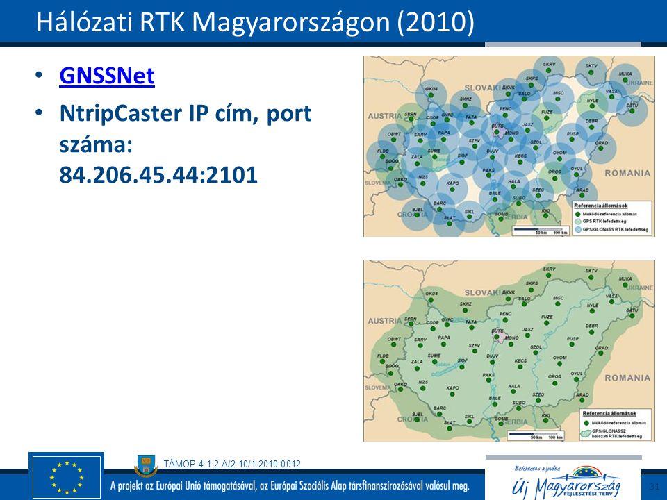 Hálózati RTK Magyarországon (2010)