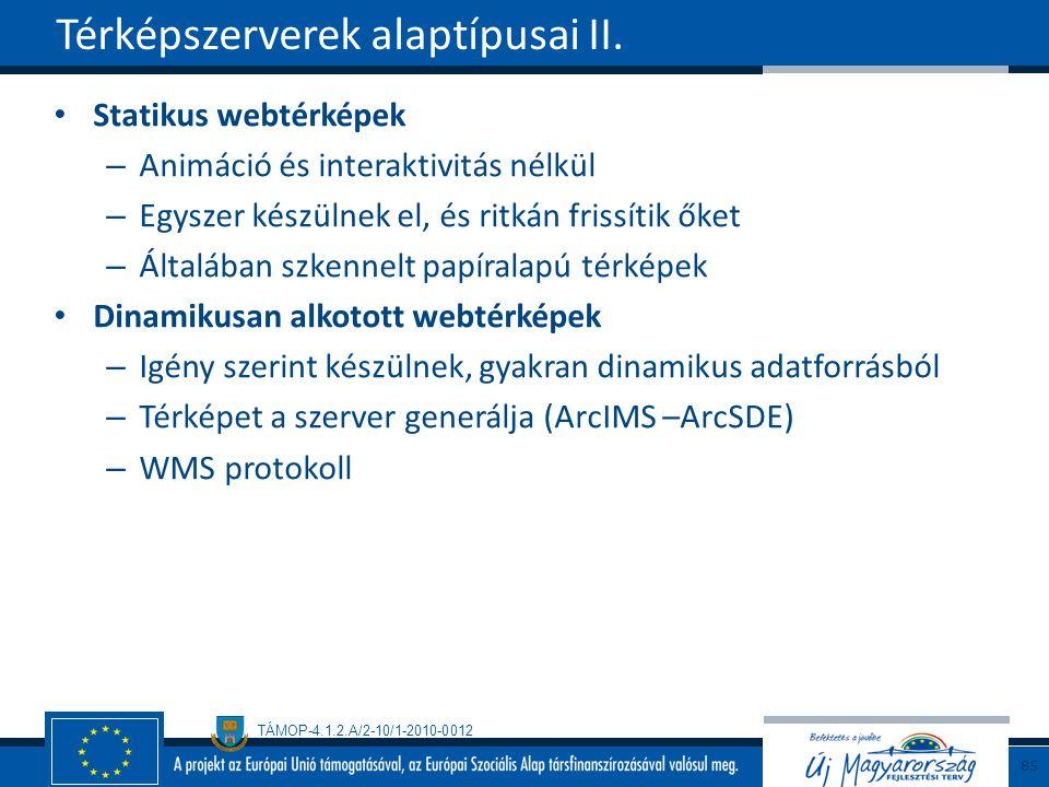 Térképszerverek alaptípusai II.