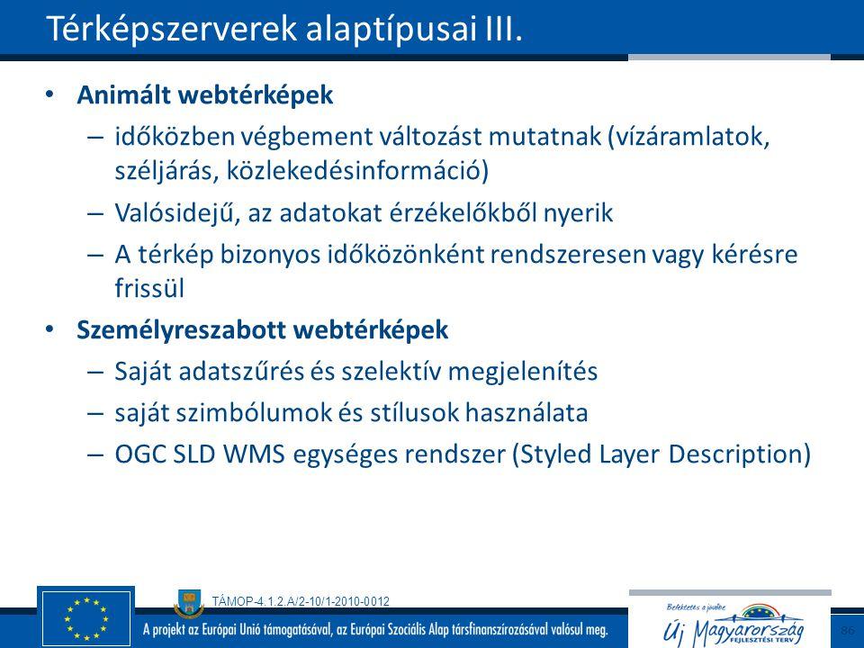 Térképszerverek alaptípusai III.