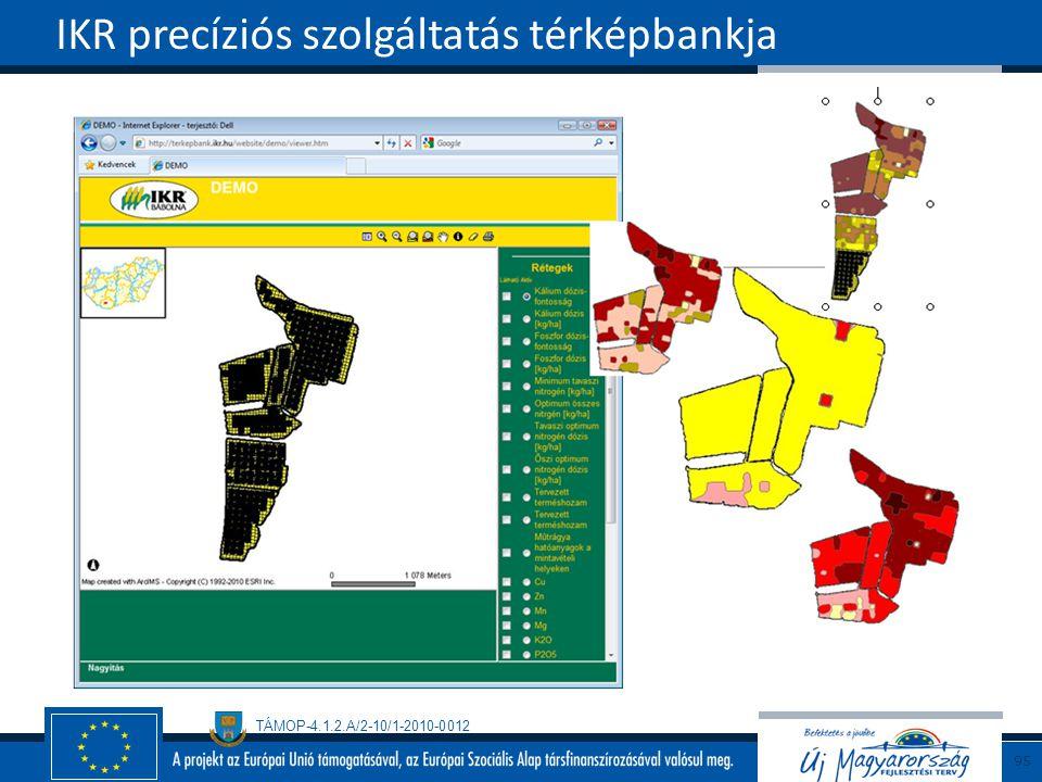 IKR precíziós szolgáltatás térképbankja