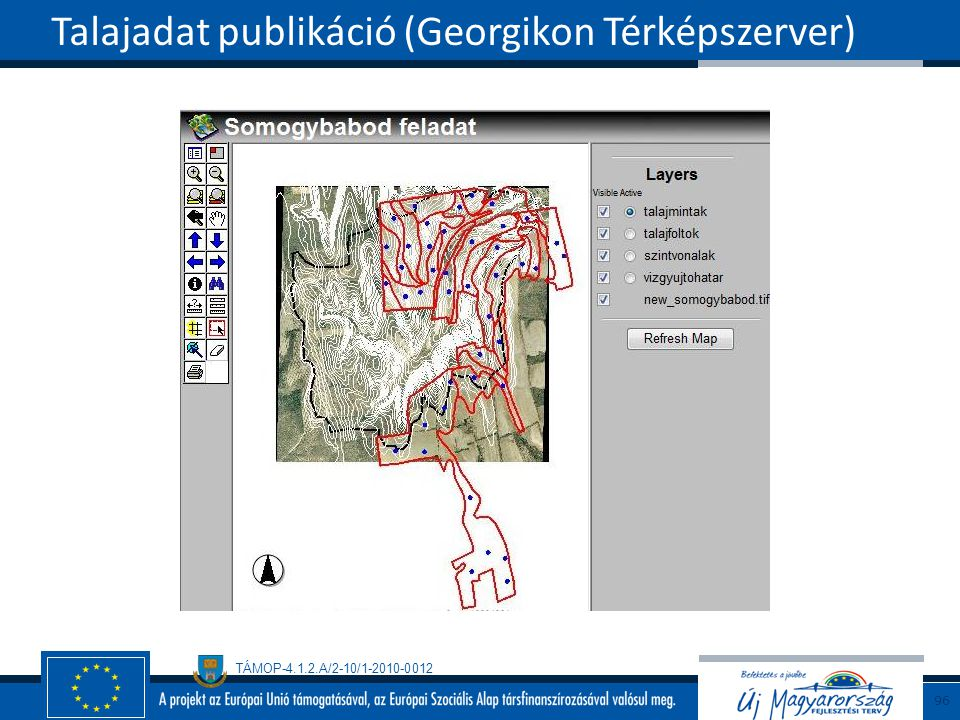 Talajadat publikáció (Georgikon Térképszerver)